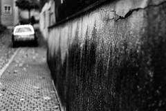 Car and wall (Leica M6) (stefankamert) Tags: stefankamert car wall blur blurry film analog grain bw baw blackandwhite blackwhite noir noiretblanc leica m6 leicam6 rangefinder kodak trix summitar