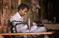 India (mokyphotography) Tags: india ritratto rajasthan men uomo tailor sarto work lavoro canon portrait people persone picture travel village villaggio