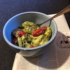 Tortellini and pesto with a side of the New Yorker thanks @carolyngale10 (lizabeth68au) Tags: ifttt instagram