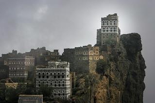Yemen: maisons-tours dans le djébel Haraz.