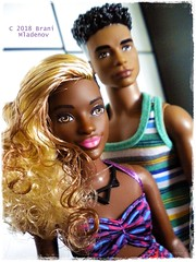 Favorite couple! (Brani's fashion dolls) Tags: barbiedollcollection barbie fashionistas curvy tall ken fashiondolls