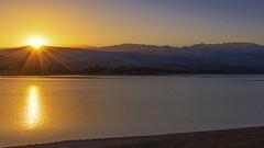 Here comes the sun (Kamal MIKOU) Tags: marrakech sunrise mountains morocco lake atlasmountains landscape travel nikon d800