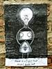 Jon Turner, Manchester, UK (Robby Virus) Tags: manchester england uk unitekingdom britain greatbritain jon turner paste pasted paper wheatpaste pasteup robot bee light bulb symbol hopeful