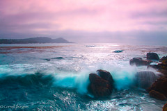 Wave vs rock. (CornellBurgessphotography) Tags: carmelbay pacificocean pointlobos cornellburgess bigsur cali waves clouds california sunrays westcoast ngc