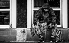Please Have A Heart <3 (Caleb Tomplait) Tags: calebtomplait photography sonya7riii sony70200mmf28gm blackandwhite street madison wisconsin statestreet homeless cold snow begging winter
