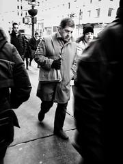 Head down (Michael Beresin) Tags: michaelberesin newyorkcity nyc shotoniphone iphoneography iphone people blackandwhite streetphotography