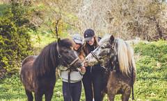 King & Jujub / Chloé & Fanny (TessAnjel) Tags: horse cheval pony poney equitation riding portrait bokeh paca photography picture photo reflex canon eos 7d mark ii objectif lens 50mm palama