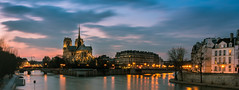 Cathédrale Notre Dame de Paris - Blue hour - Long Exposure (valecomte20) Tags: cathédrale notre dame de paris blue hour long exposure town sunset nikon d5500 seine longueexposition water