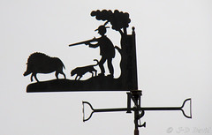 Girouette chasse (jean-daniel david) Tags: girouette ciel ombre chasse chasseur chien sanglier