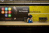 The Commuter (cookedphotos) Tags: 2018inpictures toronto ontario canada canon 5dmarkiv streetphotography ttc subway dundas station thecommuter movie poster liamneeson commute commuter bench man sit sitting typography funny 365project p3652018 advertisement
