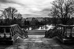 View over Dunorlan (aquanout) Tags: view lake blackandwhite monochrome