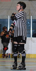 IMG_8657 crop 1 (KORfan) Tags: rollerderby barbedwirebetties cabinfeverscrimmage referees officials