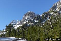 Corsica frozen lake Asco (2) (Eric Lon) Tags: corsica corse france island ile mountains montagne meretmontagne mareimonti pine pin laricio neige snow lac lake bath bain ice glace trek trekking ericlon