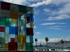 Pompidou Museum, Malaga seafront (TeaMeister) Tags: europe train travel seat61 interrail cities architecture spain espana malaga andalusia costadelsol arts culture picasso islam createyourownstory museum