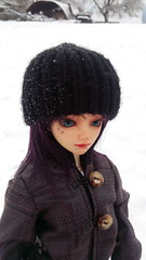 Enjoying the snow! (luxatica) Tags: minifee snow mnf fairyland shushu minifeeshushu mnfshushu bjd normalskin