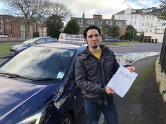 Congratulations Jose Martin Martignetti passing his practical test with only two faults!  www.leosdrivingschool.com