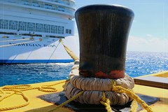 The Mighty Mooring Bollard (munyolie) Tags: norwegiancruise cruiseship vacation deepsea anchor