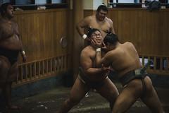 Sumo stable; Tokyo, Japan (erik-peterson) Tags: 2016 breakfast d3s erikpeterson japan october tokyo sumo wrestle wrestling
