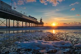 Sunrise and Sea Foam at Paignton