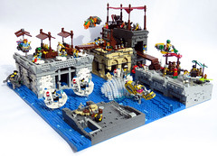 CanalStChase1 (Shmails) Tags: lego district 18 flood chase market fishing