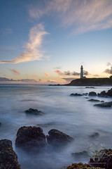 Lighthouse Love (Dancing.With.Wolves) Tags: lighthouse waves long exposure coast west water action clouds trip travel rocks reef kelp shell sand sea boat sail hike point friend buddy