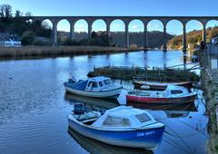 The Calstock Viaduct, River Tamar (Baz Richardson (now away until 21 June)) Tags: devon cornwall calstockviaduct rivertamar smallboats