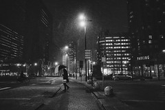 (Ross Magrath) Tags: streetphotography street rain night dark rotterdam wet miserable buildings lights umbrella gr snow cold