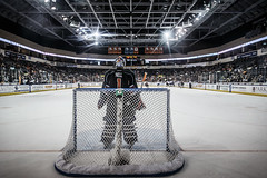 "Kansas City Mavericks vs. Toledo Walleye, January 21, 2018, Silverstein Eye Centers Arena, Independence, Missouri.  Photo: © John Howe / Howe Creative Photography, all rights reserved 2018. • <a style=""font-size:0.8em;"" href=""http://www.flickr.com/photos/134016632@N02/28060986829/"" target=""_blank"">View on Flickr</a>"
