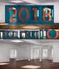 Vœux 2018 (nkpl) Tags: 2018 vœux wishes anamorphose anamorphosis cgi 3d imagedesynthèse computergraphic bleu blue rouge red intérieur interior render computergeneratedimage