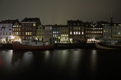 Nyhavn by Night (Hemzah Ahmed) Tags: copenhagen denmark travel travelphotography traveller reflection reflectionlovers reflections reflectionslovers canal europe boat nightscape night nightimages nightlight nightlife sundaylights nightphotography nocturnesnightphotography architecture architectural design window windows colour water colorful canon1635mmf4 canon5dmarkiii canon5dmark3 europeanarchitecture