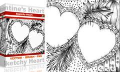 Vol.7 : Sketchy Valentine's Heart (stockgraphicdesigns) Tags: border celebration decoration floralheart flourish flower frame freehand greeting handdrawnheart handdrawn heart heartvector holiday inkdrawing love ornament ornate romance romantic sketchy sketchyheart swirl symbol valentines valentinesday wedding
