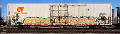 Keptoe/Sufer/Anice (quiet-silence) Tags: graffiti graff freight fr8 train railroad railcar art keptoe sufer anice mta ca sts cryx cryo cryotrans insulated boxcar lambweston cryx3524