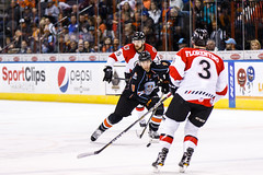 """Kansas City Mavericks vs. Cincinnati Cyclones, February 2, 2018, Silverstein Eye Centers Arena, Independence, Missouri.  Photo: © John Howe / Howe Creative Photography, all rights reserved 2018. • <a style=""""font-size:0.8em;"""" href=""""http://www.flickr.com/photos/134016632@N02/28338148349/"""" target=""""_blank"""">View on Flickr</a>"""