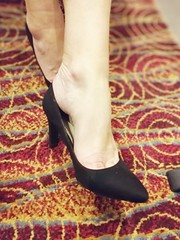 Heels (newport50) Tags: sexyfeet sexyheels heels black shoes arched ankles bare erotic