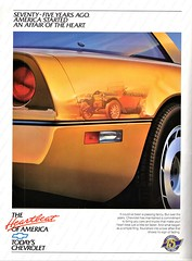 1986 Chevrolet 75th Anniversary Ad (aldenjewell) Tags: 1986 chevrolet 75th anniversary ad corvette 1911 touring