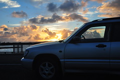 Mangere Bridge (Janek Kloss) Tags: subaru forester 1999 silver