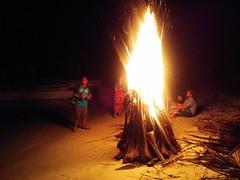 Beach bonfire, Hoga Island, Wakatobi NP (Niall Corbet) Tags: indonesia sulawesi hoga wakatobi nationalpark island operationwallacea opwall beach bonfire fire