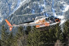 AS350 B3 Ecureuil F-HESB helicopter, CMBH (Chamonix Mont-Blanc Hélicoptères), Chamonix, DZ des Bois, 2018 (André Bour - Helico Passion) Tags: helicopter as350 ecureuil chamonix cmbh montagne neige
