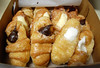 Filled Croissants In A Box. (dccradio) Tags: lumberton nc northcarolina robesoncounty cakespastries cakesandpastries doughnut donut croissant filledcroissant jelly jam frosting creamcheese whitefrosting chocolatefrosting raspberry blueberry glaze glazed treat sweet dessert breakfast food eat snack junkfood nikon d40 dslr