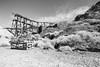 Cerro Gordo Ghost Town, Inyo County, California (paccode) Tags: solemn d850 landscape desert bushes brush blackwhite hills california abandoned monochrome mojave creepy forgotten scary quiet mountain unitedstates us