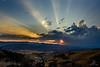 Sunstar and sunrays (J. C. Wang, Ph.D.) Tags: sunset sunburst rays sunbeams sunrays crepuscular nature lights ngc