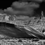 Castleton Tower and a Look of the American West (Black & White) thumbnail