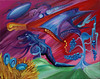 Dinosaur Grapes (MattCrux) Tags: psychedelic lsdtrip acid abstract trippy colorful rainbow lsd strange weird drug drugs weed high trip love acrylic painting acrylicpainting traditional canvas paint painted artist drawing illustration art arts expressive different beautiful artsy creativity creative