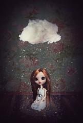 Portrait funèbre (Zorha Nightwood) Tags: custom fullcusto doll pullip groove jun planning obitsu photoshop photo astre nuage lavolière blythe montage olympus