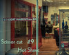 Your barber always knows everything that goes on in the town, doesn't he—Adam Peaty (Lorrainemorris) Tags: reflections man vintage red 7rm2 sony zeiss old streetphotography edinburgh shave haircut barber
