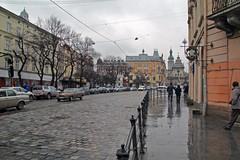 Streets of Lviv (rob.brink) Tags: lviv lvov lemberg city architecture urban street ukrain rain water old historic