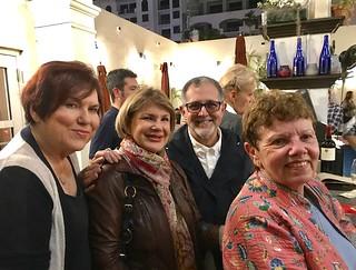 Lilia Garcia, Ninoska Huerta, artist Mario Bencomo and Carol Damian at the ARTtuesdays tribute to Margarita Cano