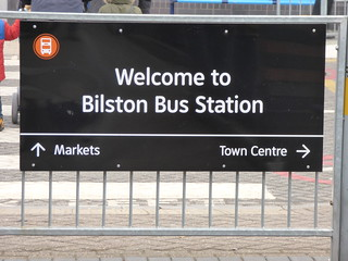 Welcome to Bilston Bus Station - sign