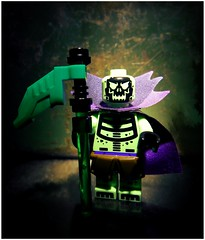 Scare Glow (LegoKlyph) Tags: lego custom brick block mini figure art heman skeletor bones 80s cartoon nerd masters universe evil badguy