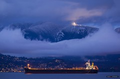 Under The Lights Of Cypress (Clayton Perry Photoworks) Tags: vancouver bc canada winter explorebc explorecanada boat ship snow mountains night lights